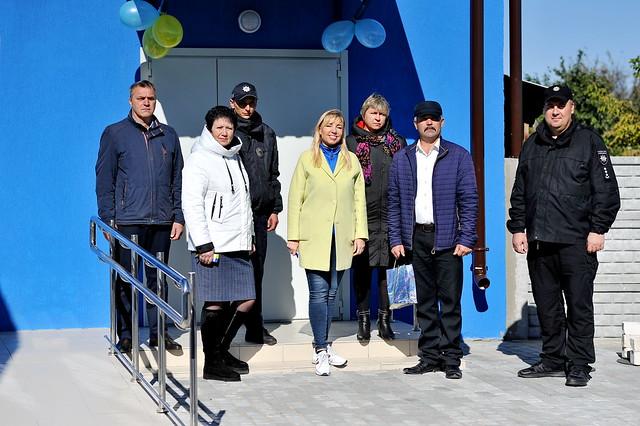 October 2021: UNDP opens police station in Krasnorichenske, Luhansk Oblast