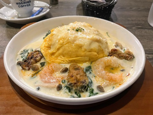 Hoshino Coffee's Hokkaido Oyster & Cheese Omurice