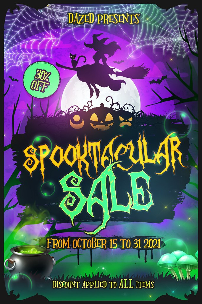 NEW LOCATION AND SPOOKTACULAR SALE!