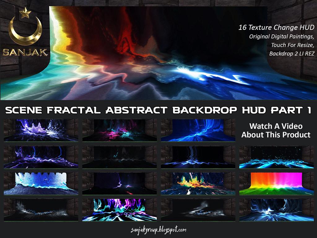 Scene Fractal Abstract 16 Color Backdrop HUD P1 Sanjak