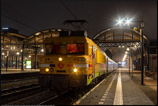 SR 1824 + Dinnertrain + TCS 102001 // Dinnertrain 33205 // Den Haag HS, Station // 10 oktober 2021