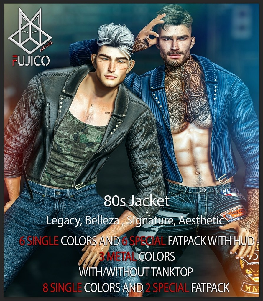 Fujico 80s Jacket – NEW RELEASE @ MAN CAVE Event!