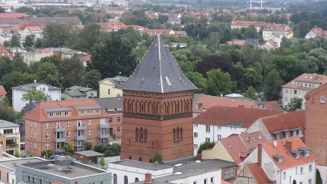 1882 Güstrow städtischer Wasserturm Baustraße 4-5 in 18273