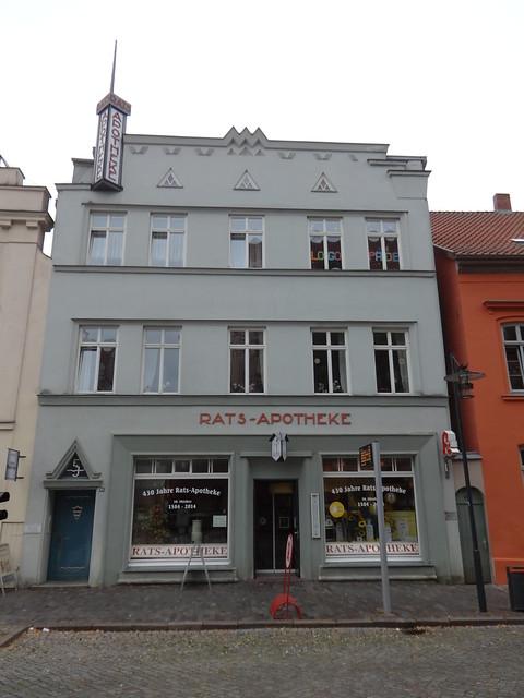 1923 Güstrow expressionistische Rats-Apotheke Markt 24 in 18273