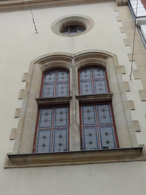 1895/96 Güstrow Fenster Kaiserliche Reichspost in Neorenaissance von Hubert Pferdemarkt 52-56 in 18273