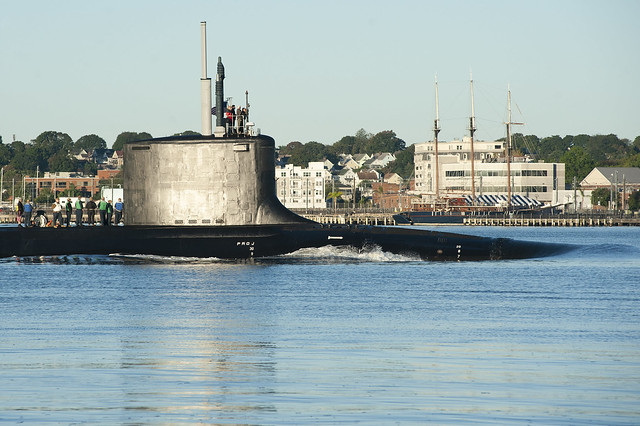 USS Delaware (SSN 791) returns to Submarine Base New London after conducting routine operations.