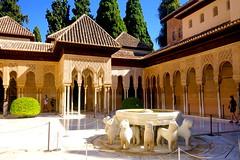 Palacios Nazar�es in the Alhambra (Granada).