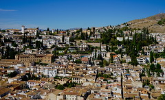 View of Granada from the Alhambra.