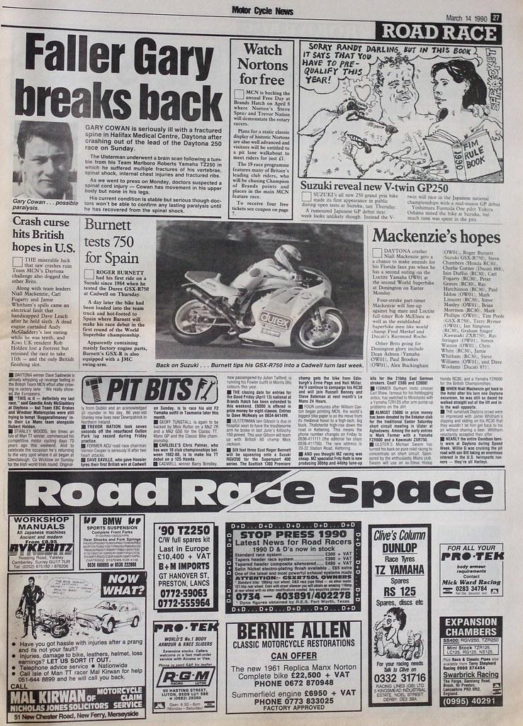 CRASH BANG WALLOP MARCH 14TH 1990. DAYTONA