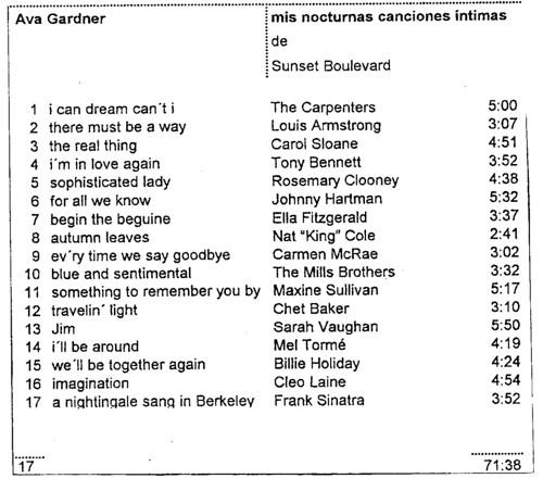 Ava Gardner-en kanta kuttunak.