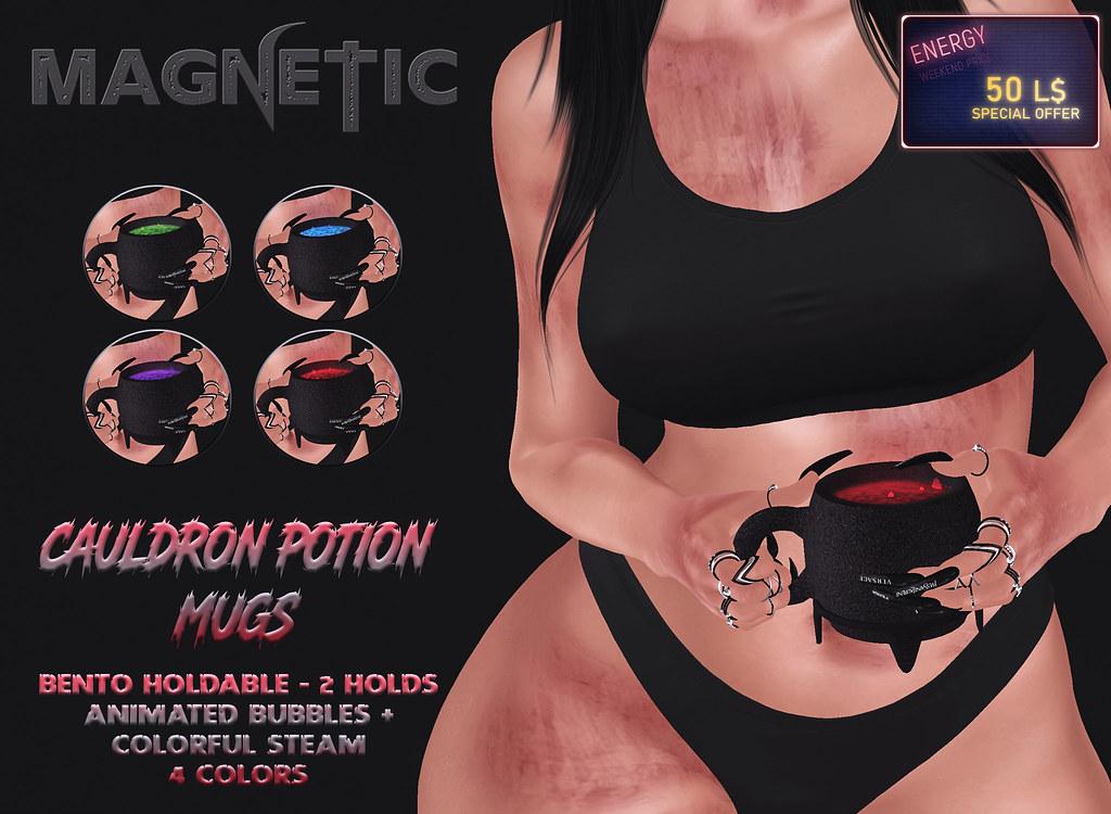 Magnetic – Cauldron Potion Mugs