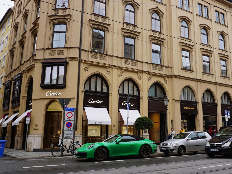 Green Porsche Munich