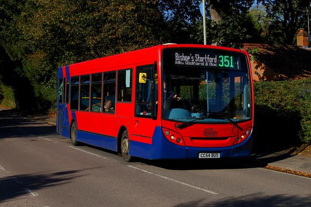 Crosscountry: Trustybus (ex Arriva London ENL44) ADL Enviro200 10.2m CC54BUS (formerly LJ09KPG) Hadham Road Bishops Stortford 15/10/21