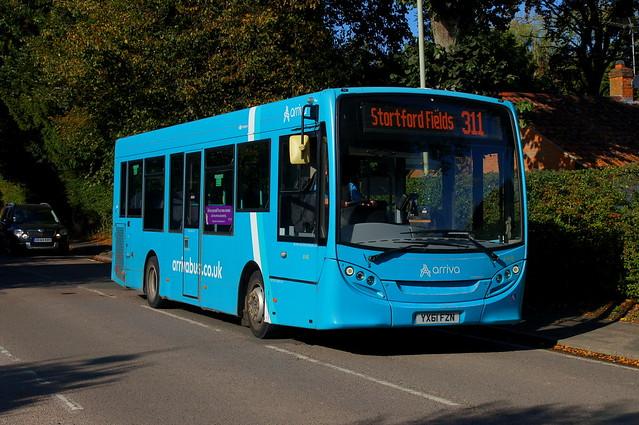 Spinning Loops: Arriva Harlow (ex Tower Transit DM44270) ADL Enviro200 YX61FZN (4008) Hadham Road Bishops Stortford 15/10/21