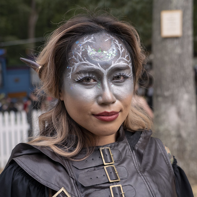 Face-painted Drow
