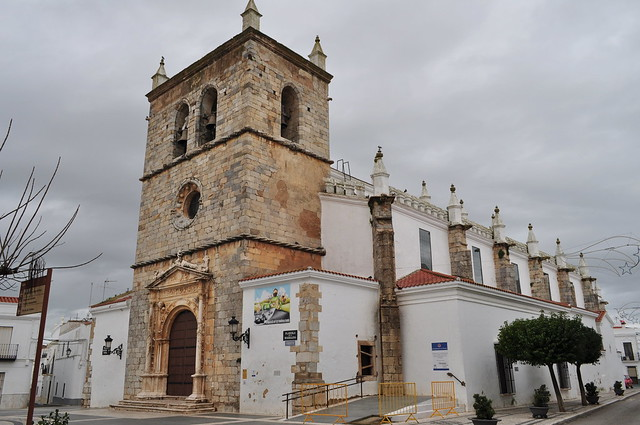 Eglise Santa Maria Magdalena 1510-1560, Olivenza, comarque des Llanos de Olivenza, province de Badajoz, Estrémadure, Espagne.
