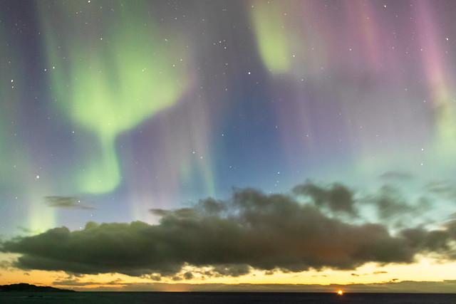 Nordlicht über der Barentsee