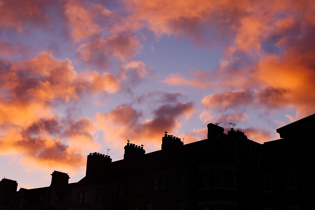 rooftops at sunrise
