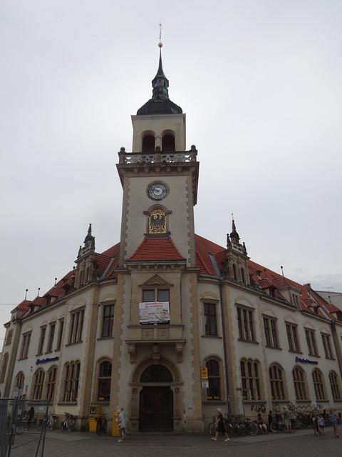 1895/96 Güstrow repräsentative Kaiserliche Reichspost in Neorenaissance von Hubert Pferdemarkt 52-56 in 18273