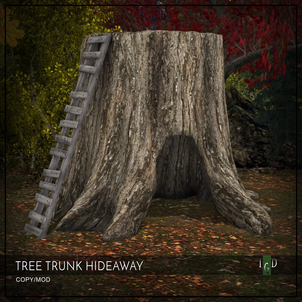 Brand New L$50 this weekend! TREE TRUNK HIDEAWAY