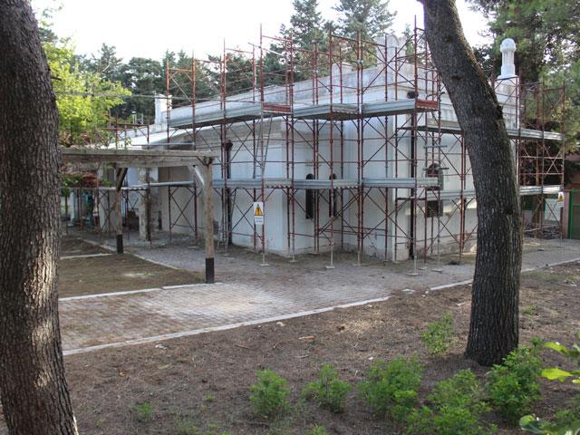 lavori ristrutturazione ex scuola rurale di Monturi
