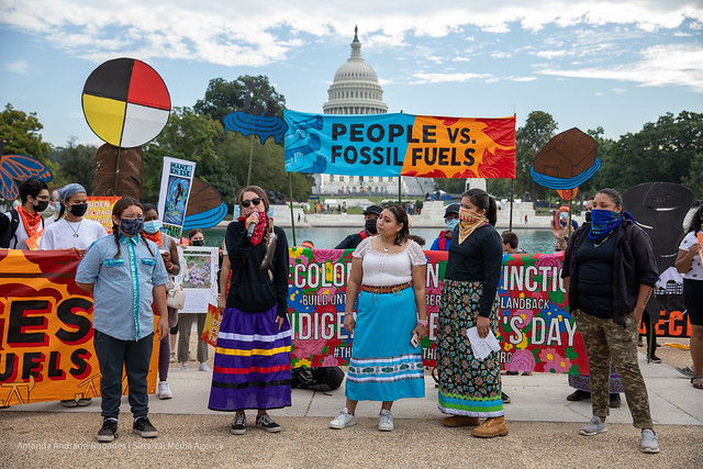 Day 5 - People vs Fossil Fuels -We did not vote for fossil fuels. Youth-led action - October 15