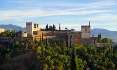 Alhambra de Granada viewed from Mirador de San Nicol�s.