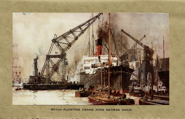 The County & City of Kingston Upon Hull - the third port of the United Kingdom : booklet issued for Hull Civic Fortnight & British Empire Exhibition, Wembley 1925 : Floating Crane (King George Dock)