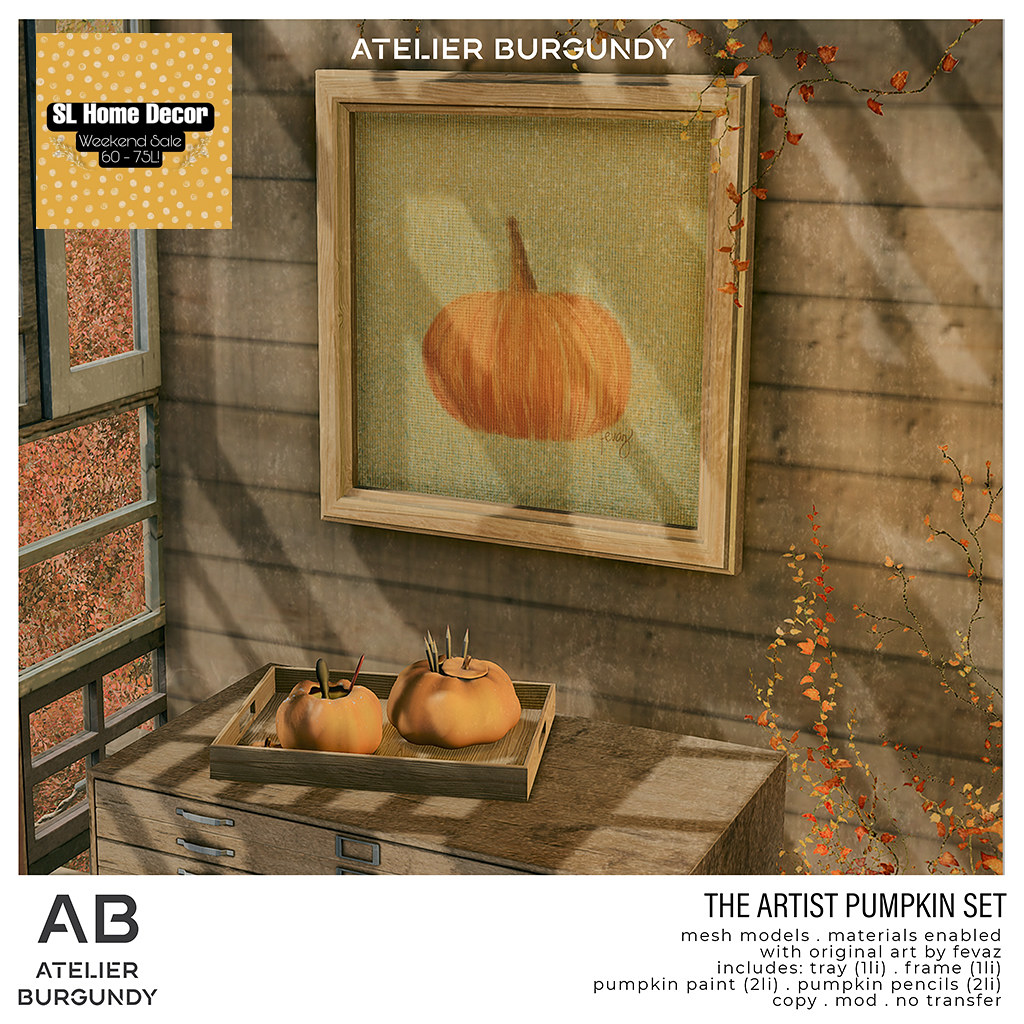 Atelier Burgundy . Artist Pumpkin Set HDW