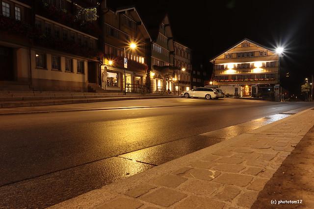 Dorfplatz Urnäsch in der Nacht