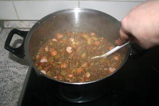 40 - Stir & let sausages get hot / Verrühren & Würstchen heiß werden lassen