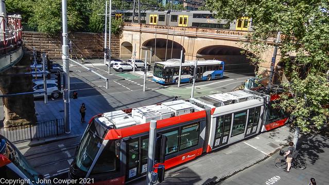 Sydney Trains, Buses and Light Rail. At Eddy Avenue