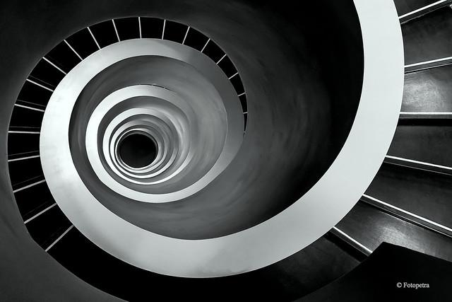 Meine Traumtreppe in schwarz weiß