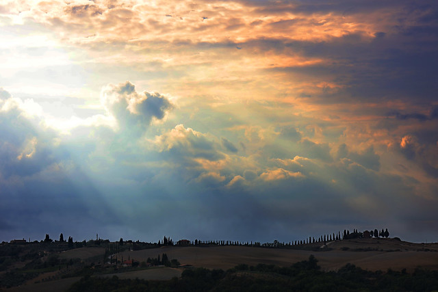 Sky at Val d'Orcia