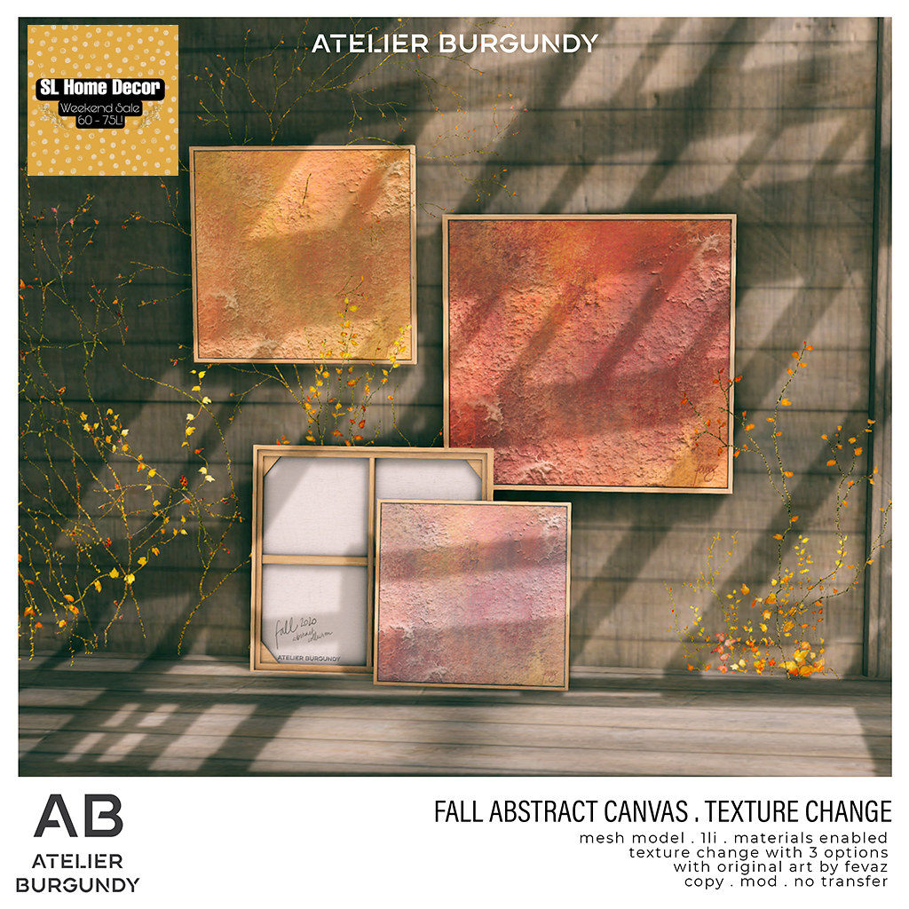 Atelier Burgundy . Fall Abstract HDW