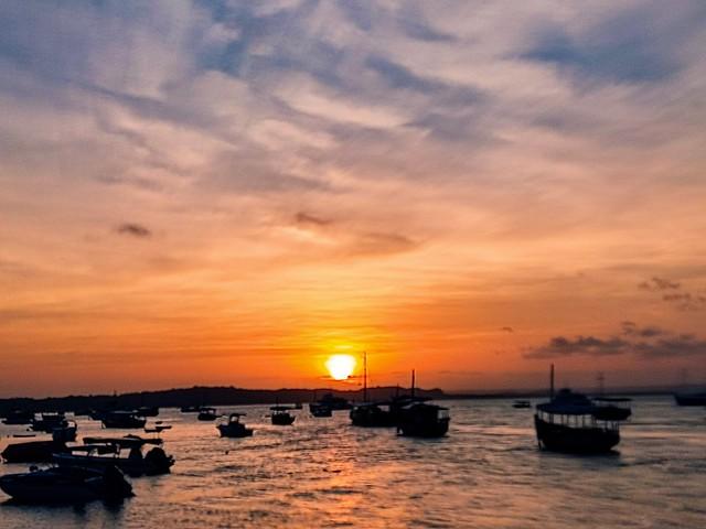 Sunset, Gamboa do Morro, Bahia, Brazil