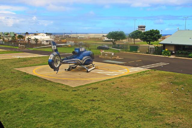 We have lift off - Blue Hawaiian Helicopter tour - Kauai