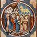 Worshipping Golden Calf, Miniature of Saint Louis Bible, c. 1227-34