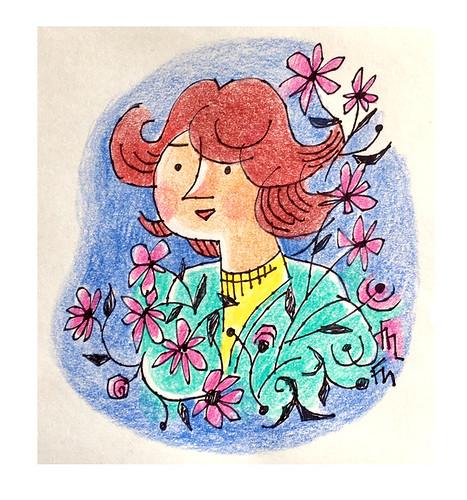 Flowers Lady 2