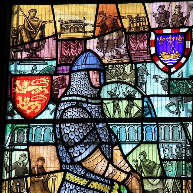 Stained glass -St Mary the Virgin church - Battle East Sussex -240821 (6)