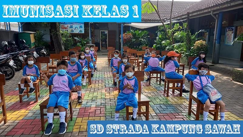 Siswa kelas 1 SD Strada Kampung Sawah Cegah Campak dengan Vaksin MR
