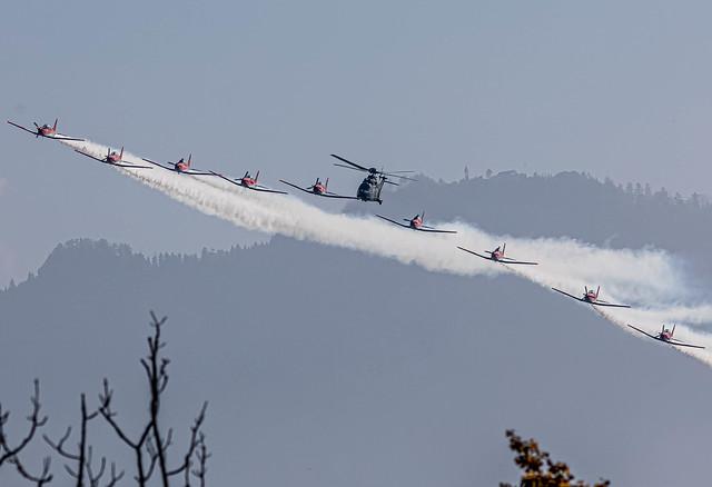 Lucerne: SwissAirForce Aerobatic Team Pilatus PC-7 Team