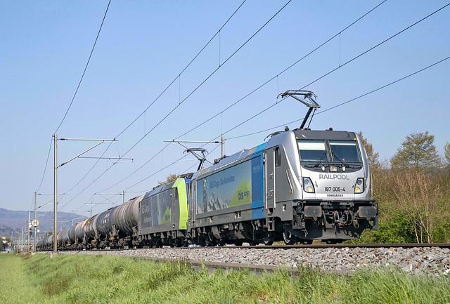 Railpool 187 005 + 485 013 Sissach