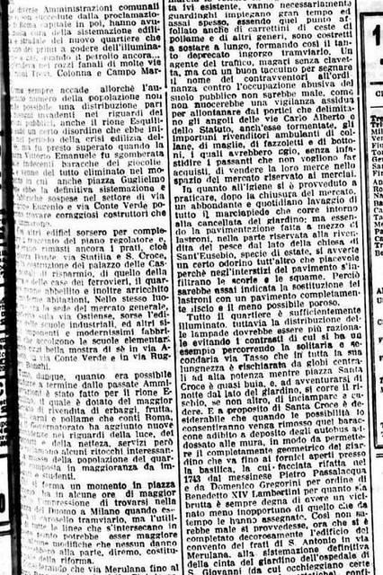 RARA 2021. La Nuova Roma - Il Quartiere dell' Esquilino; in: IL MESS. (15/01/1932): 5; Foto: Il Quartiere Esquilino; in: GOOGLE EARTH (2018). S.v., La Rep. (15/10/2021); SSABAPR (15/10/2021); AgCult (15/10/2021). NYT (12/01/2021) [Ital. & Eng.]