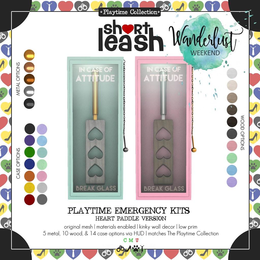 .:Short Leash:. Playtime Emergency Kits – Heart Paddle Version