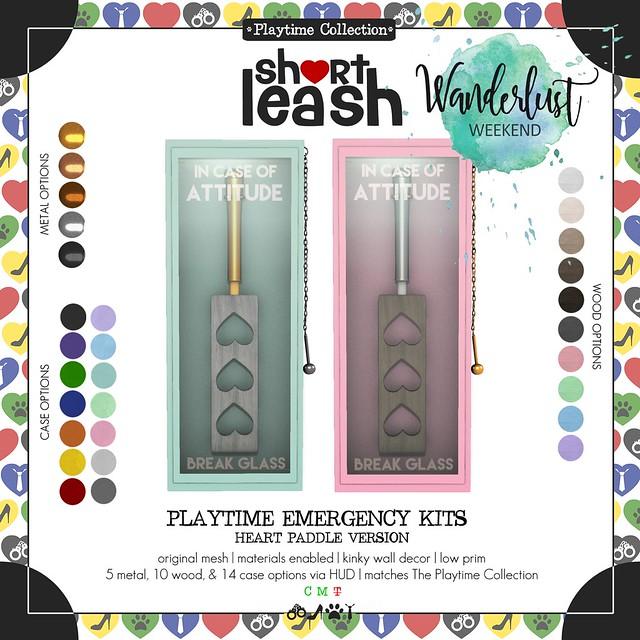 .:Short Leash:. Playtime Emergency Kits - Heart Paddle Version