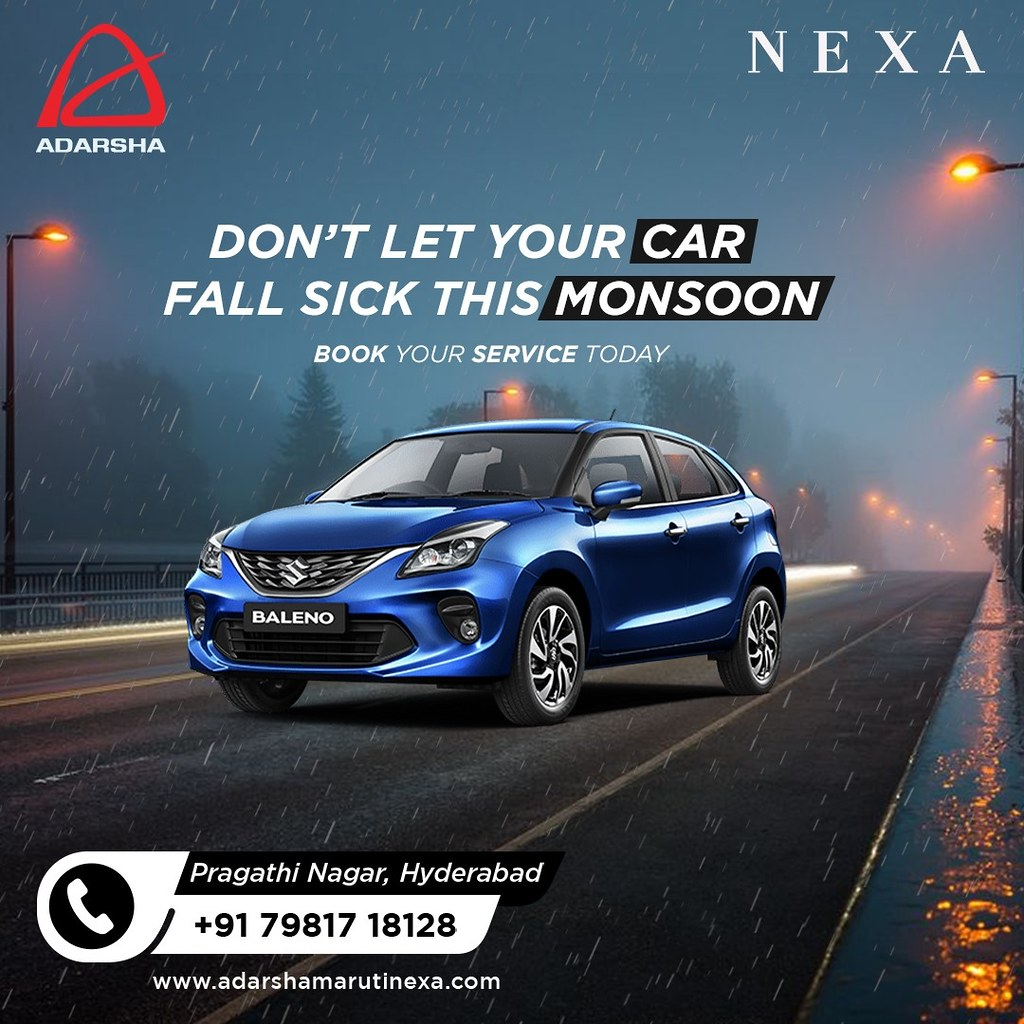 Don't let your car fall sick this monsoon - visit best nexa car service centre in Hyderabad