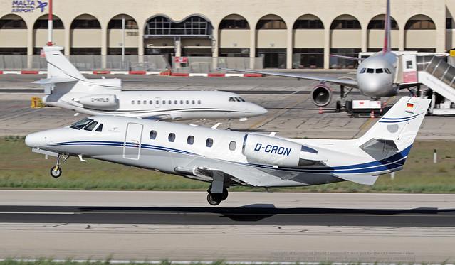 D-CRON LMML 10-10-2021 Silver Cloud Air Cessna 560XL Citation XLS CN 560-5762