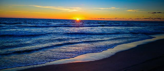Sunrise over the Atlantic Ocean - Melbourne Beach FL
