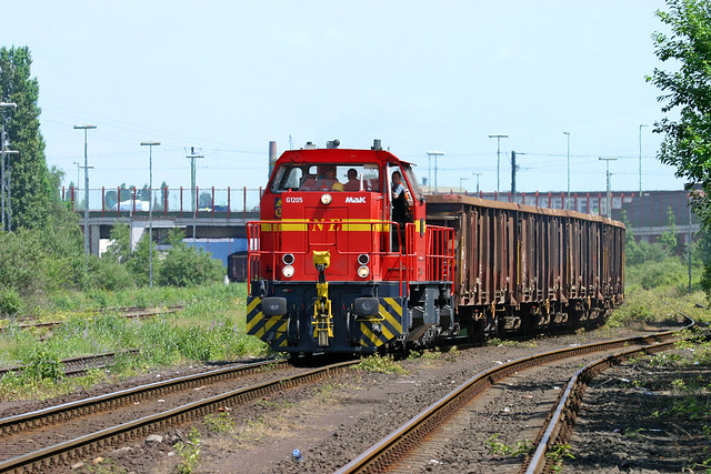 NE G1205 + Güterzug/goederentrein/freight train  - Neuss N E Übergabebahnhof